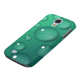 Teal Raindrop Texture Samsung Galaxy S4 Cover