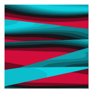 Teal-Red  Fractals Card