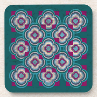Teal Reflections Coasters Set