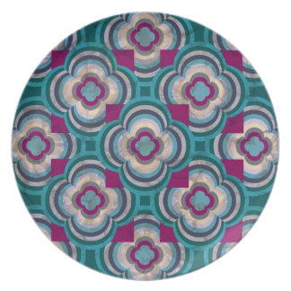 Teal Reflections Plate