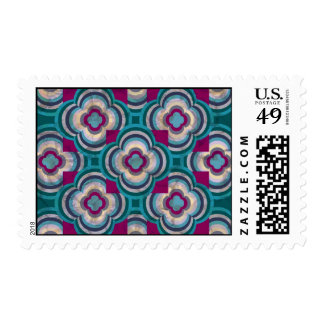Teal Reflections Postage Stamps