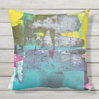 Teal Residue Pillow