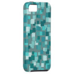 Teal Retro Squares iPhone 5 Case-Mate