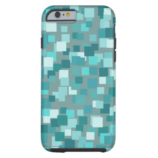 Teal Retro Squares iPhone 6 Tough iPhone 6 Case