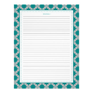 Teal Retro Star Additional Recipe Pages