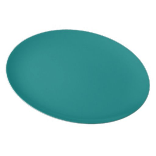 Teal Retro Star Charger Melamine Plate Zazzle