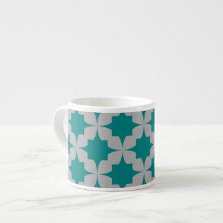 Teal Retro Star Espresso Mug