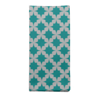 Teal Retro Star Napkin