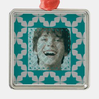 Teal Retro Star Ornament