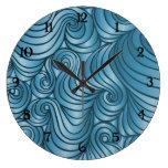 Teal Retro Swirl Clock