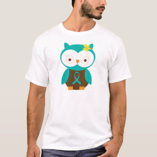 Teal Ribbon Awareness Owl T-Shirt