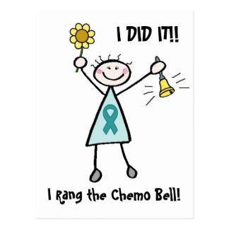 Teal Ribbon Chemo Bell Postcard