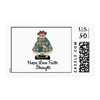 Teal Ribbon Country Girl 3.1 Postage