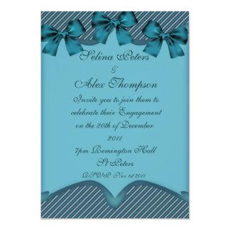 Teal  Ribbon Engagement Invitation