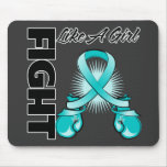 Teal Ribbon Fight Like A Girl Mouse Pad