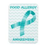 Teal Ribbon Food Allergy Awareness Magnet
