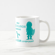 Teal Ribbon Food Allergy Awareness Silhouette Coffee Mug