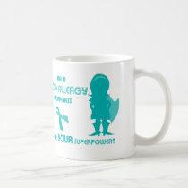 Teal Ribbon Food Allergy Awareness Silhouette Coffee Mug