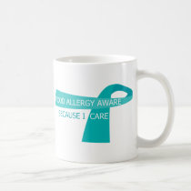 Teal Ribbon Food Allergy Awareness Teal Ribbon Coffee Mug