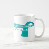 Teal Ribbon Food Allergy Awareness Teal Ribbon Coffee Mug