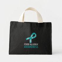 Teal Ribbon Food Allergy Awareness Tote Bag