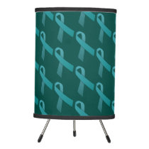 Teal Ribbon Food Allergy Awareness Tripod Lamp