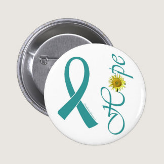 Teal Ribbon Hope Button
