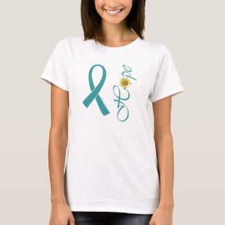 Teal Ribbon Hope Ovarian Cancer T-Shirt