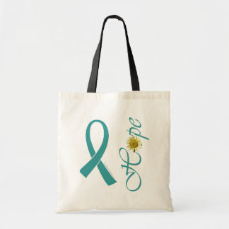 Teal Ribbon Hope Tote Bag