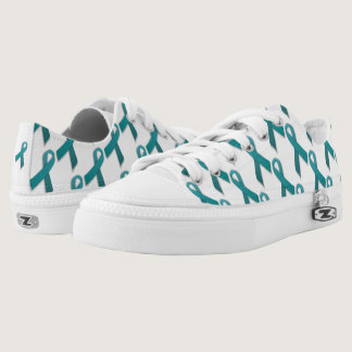 Teal Ribbon lace up shoes