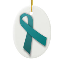 Teal Ribbon ornament