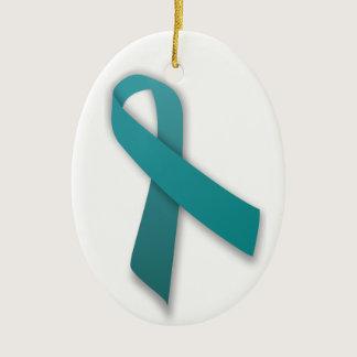 Teal Ribbon ornament