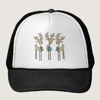 Teal Ribbon Reindeer Trucker Hat