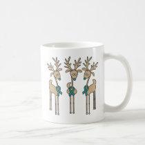 Teal Ribbon Reindeer (Uterine Cancer) Coffee Mug