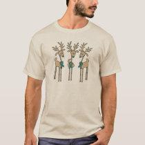 Teal Ribbon Reindeer (Uterine Cancer) T-Shirt