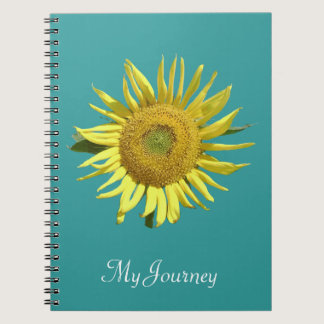 Teal Ribbon Sunflower Notebook