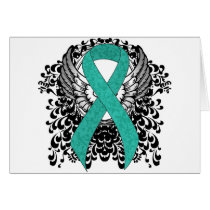 Teal Ribbon Support Awareness Card