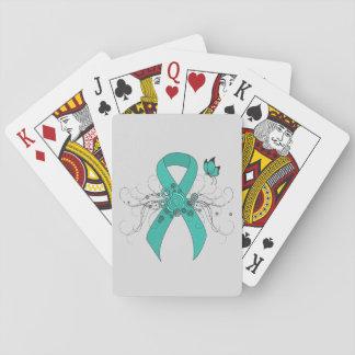 Teal Ribbon Support Awareness Card Deck