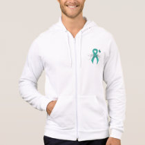 Teal Ribbon Support Awareness Hoodie