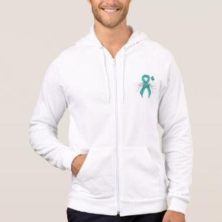 Teal Ribbon Support Awareness Hoodie