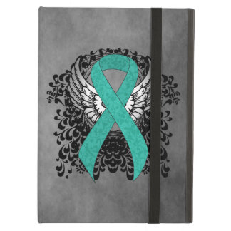 Teal Ribbon Support Awareness Cover For iPad Air