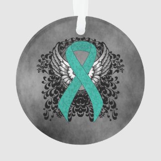 Teal Ribbon Support Awareness Ornament
