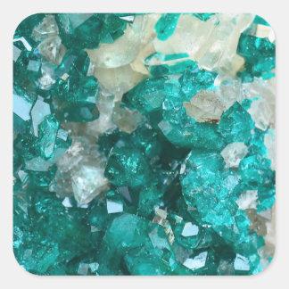Teal Rock Candy Quartz Square Sticker