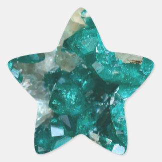 Teal Rock Candy Quartz Star Sticker