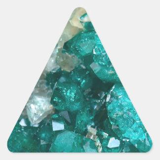 Teal Rock Candy Quartz Triangle Sticker
