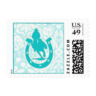 Teal Rodeo Stamp
