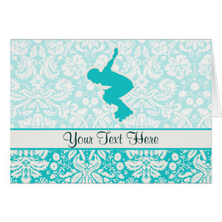 Teal Rollerblading Card