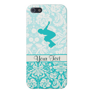 Teal Rollerblading Case For iPhone 5