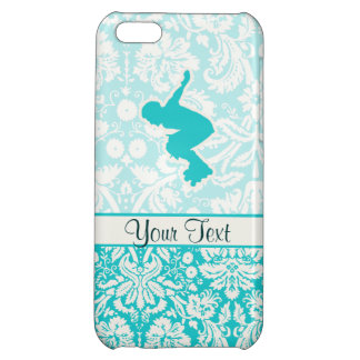 Teal Rollerblading Cover For iPhone 5C