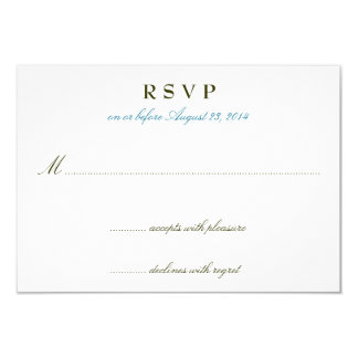 Teal Romance Wedding Invitation RSVP Cards